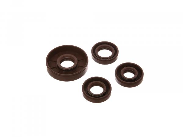 Set: Oil seals motor complete, brown - Simson SR4-1 Spatz (pedals), SR1, SR2