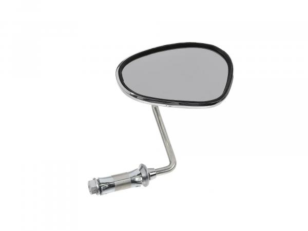 mirror right, handlebar mounting, short bar 90°