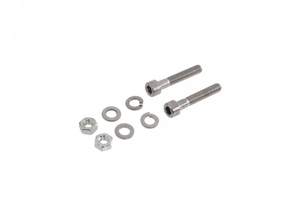 Set: cylinder screws, hexagon socket in stainless steel for brake lever on front and rear hub Schwalbe KR51/1, KR51/2, Star, Sperber, Habicht, SR4