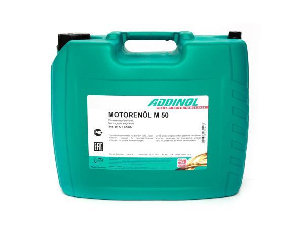 ADDINOL M50 OLDTIMER - MOTORENÖL, (SAE Klasse 50 // Viskosität 20,5), mineralisch, 20 L Kanister