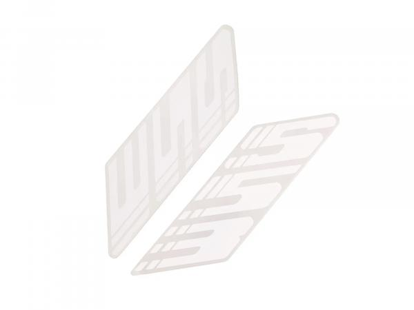 Set adhesive foil for fuel tank white left and right S53