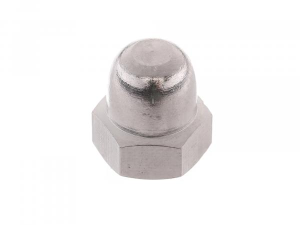 Hexagon cap nut M6 brass chrome plated - DIN1587