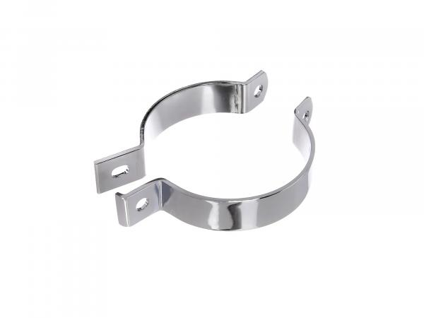 Carrying clamp for exhaust, chrome-plated - MZ ETZ250, ETZ251, ETZ301, TS250, TS250/1, ES175/2, ES250/2, ETS250