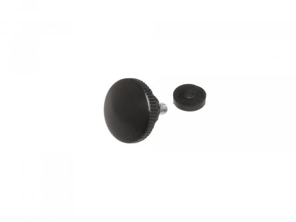 Rändelschraube schwarz mit Druckscheibe (M6) ES125, ES150, ES175, ES175/1, ES250, ES250/1, ES300