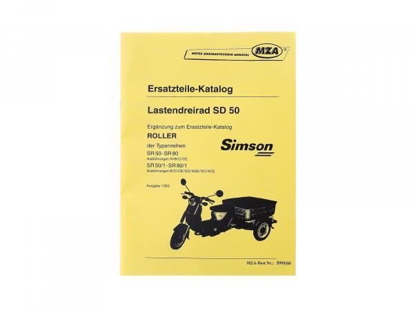 Book - Spare parts catalogue Simson Albatros SD50 load tricycle