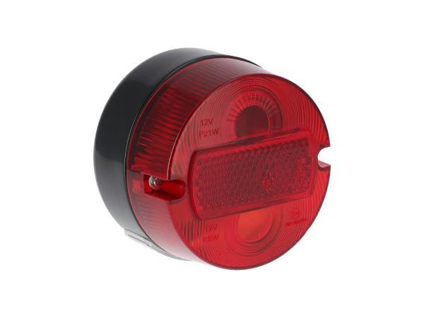 10069338 Rücklicht rund komplett, Ø100mm, mit Kennzeichenbeleuchtung - Simson S50, KR51/2 Schwalbe - Bild 1