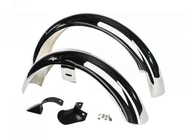 SET: Mudguard S51 front/rear CHROM