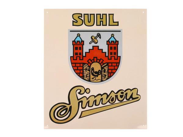 "10005630 Blechschild ""SIMSON SUHL"" - Bild 1"