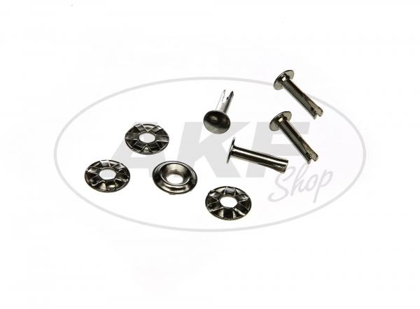 SET: Split rivet + washer (set of 8 pieces) for saddle SR1, SR2, SR2E