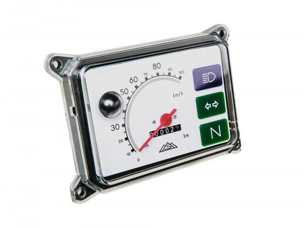 Device combination, speedometer, instrument cluster for SR50, SR80 - without illumination, scale white - 100 km/h