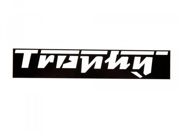 10057517 Schriftzug (Folie - Schablonierfolie) Trophy weiß (ca. 17,50cm lang) - Bild 1