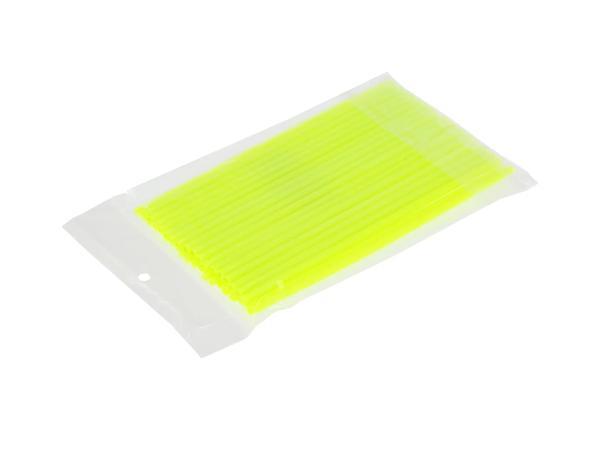 10070147 Set: 36x Speichen-Cover Neon-Gelb, Speichenschutz, Länge 180mm - Bild 1