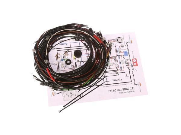 Kabelbaumset SR50CE, SR80CE, 12V-Elektronikzündung mit Schaltplan
