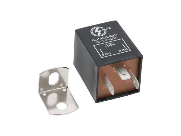 Blinkgeber, elektronisch, 12V 3-pol. Anschluss(31, 49, 49a), universell einsetzbar