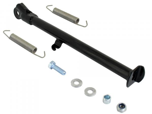 Set: side support black, 19/17 inch wheels, OR version, with springs and small parts - Simson S53, S83