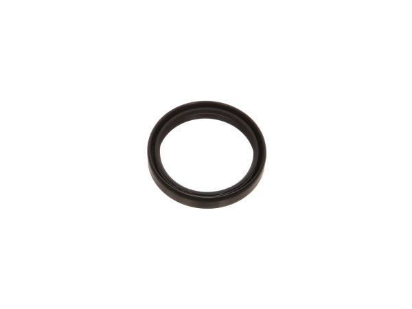 Oil seal 30x36x06, black, double lip