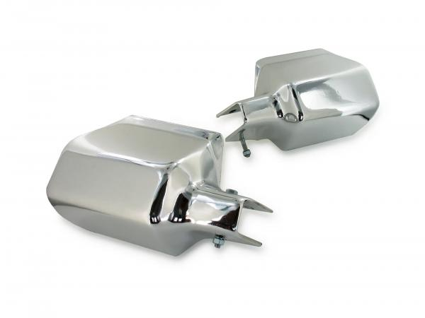 Set of hand protectors in chrome look