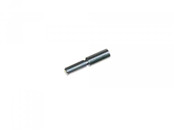 Fixing screw long, 6x30, thread M5, galvanized, for lever on handlebar - Simson S51, Schwalbe KR51, SR4