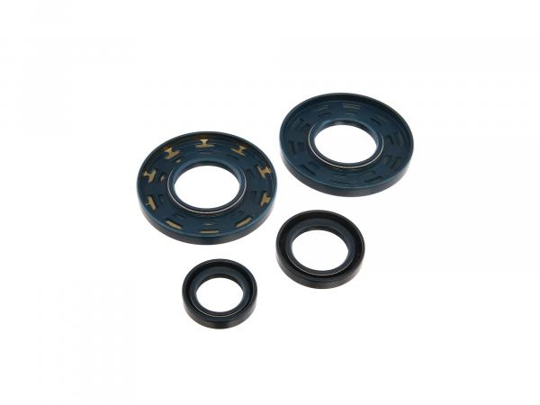 Set: shaft seals motor, blue, double lip - for MZ TS250