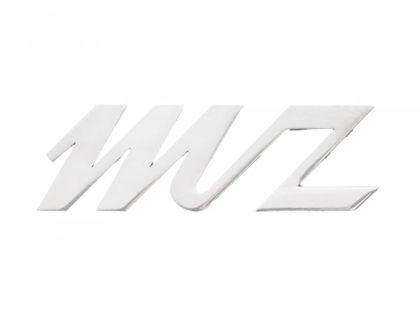 """Schriftzug """"MZ"""" Alu poliert für Seitenwagen Stoye, Beinschutzblech ES, ES/1"""