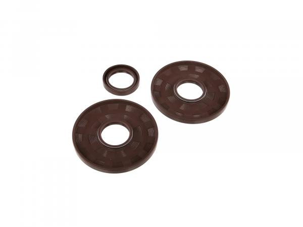 Set: Oil seals motor, brown, double lip - for MZ ETZ250, ETZ251