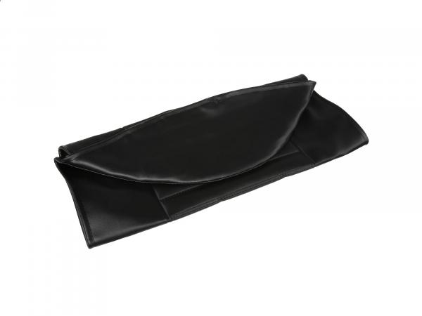 Seat cover structured, black without MZ lettering - MZ TS125, TS150