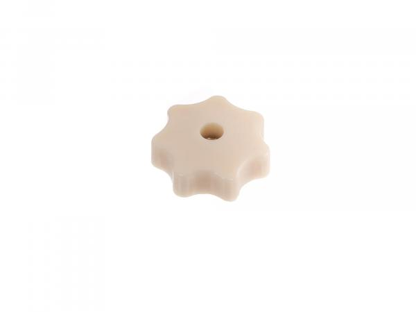 Star knob nut M6 in ivory (beige) for engine cover hood Simson Schwalbe KR51, Star, Sperber, Habicht SR4, SR50, SR80