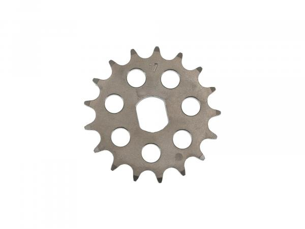 sprocket RESO, small sprocket, tuning 17 tooth - for Simson S51, S70, S53, S83, KR51/2 Schwalbe, SR50, SR80