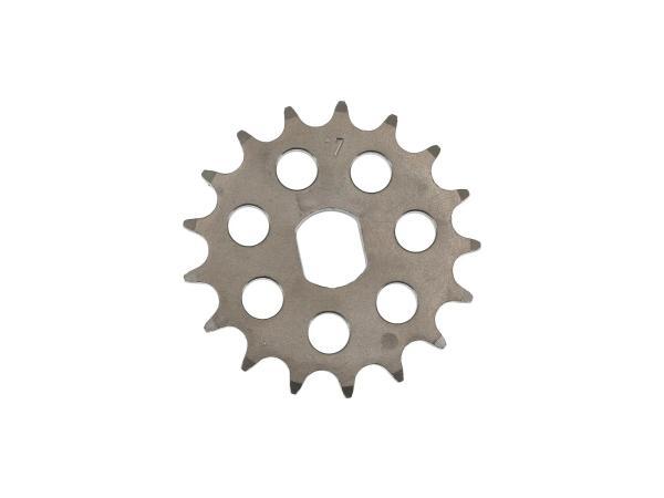 Ritzel RESO, kleines Kettenrad, Tuning 17 Zahn - für Simson S51, S70, S53, S83, KR51/2 Schwalbe, SR50, SR80