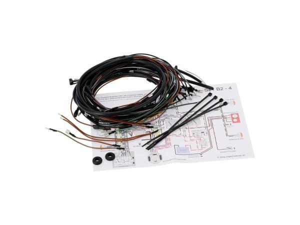 10069373 Kabelbaumset S51 B2-4, 6V-Elektronikzündung mit Schaltplan - Bild 1
