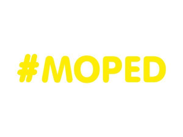 """10069657 Aufkleber - """"#MOPED"""" Folienplot Gelb, mit Übertragungsfolie - Bild 1"""