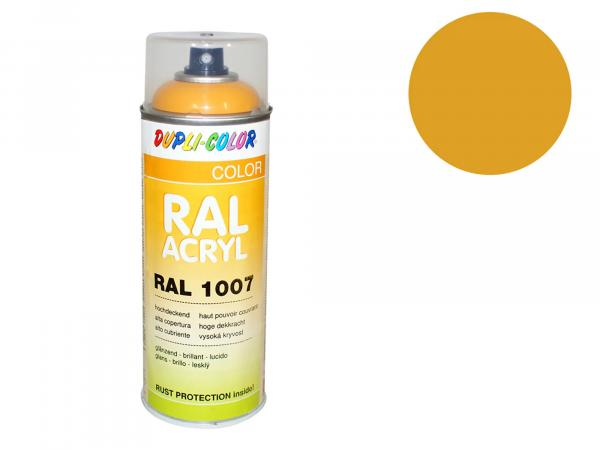 Dupli-Color Acrylic Spray RAL 1007 daffodil yellow, glossy - 400 ml
