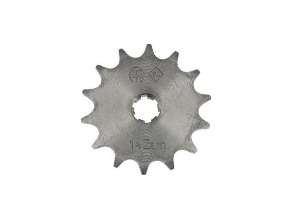 10000474 Ritzel, kleines Kettenrad, 14 Zahn - für Simson S50, KR51/1 Schwalbe, SR4-2 Star, SR4-3 Sperber, SR4-4 Habicht - Bild 1