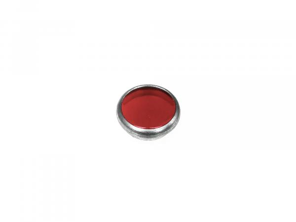 Control glass, red, aluminium socket, Ø16mm - Simson AWO, MZ RT, BK350, EMWR35