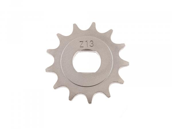 sprocket, small chain wheel, 13 teeth - for Simson S51, S70, S53, S83, KR51/2 Schwalbe, SR50, SR80