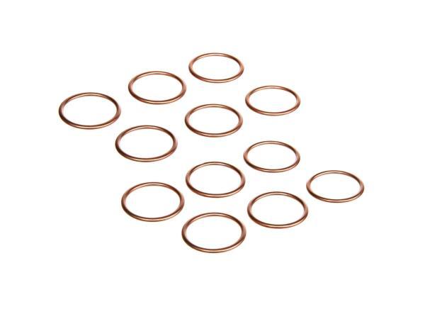 Vorteils-Set: 6 x Krümmerdichtung Kupfer 28x34 Simson S51, S50, SR50, Schwalbe