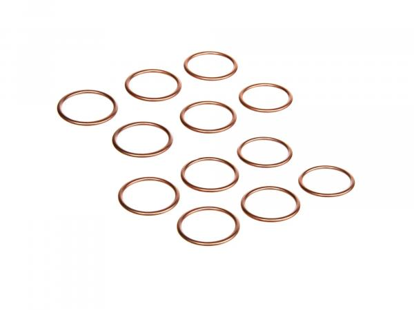 GP10000163 Set: 12x Krümmerdichtung 28x34 Kupfer - DIN 7603 - Bild 1