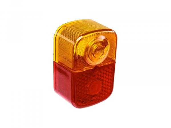 Rear light cap square, red/orange - Simson KR51/1 Schwalbe, SR4-1 Spatz, SR4-2 Star, SR4-3 Sperber, SR4-4 Habicht