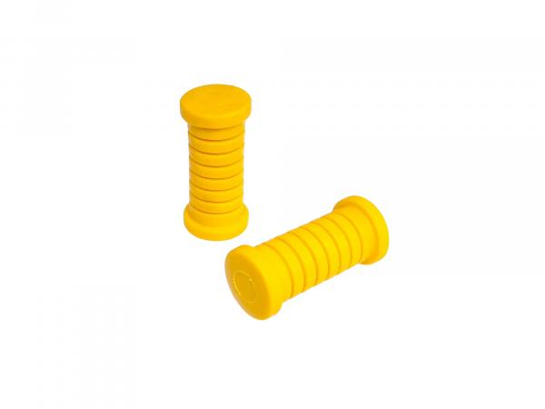 Footrest rubber SET, left and right, yellow, ETZ