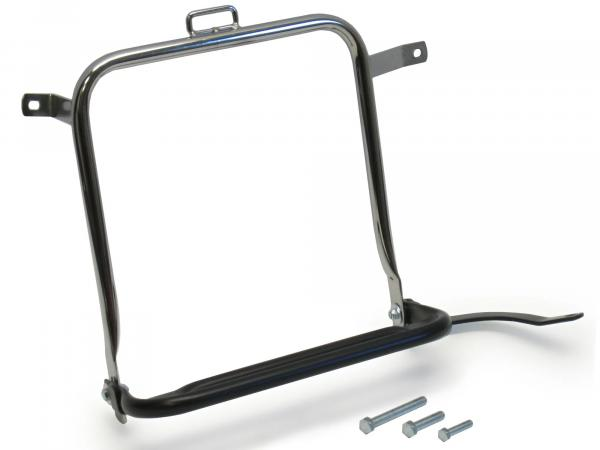 Side rack, right, chrome, black (not for original case) - Simson S50, S51, S70
