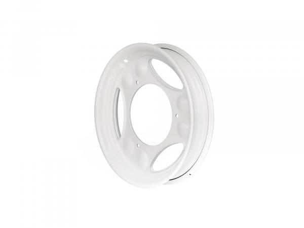 """Scheibenrad 2,1 x 12"""" Weiß pulverbeschichtet - Simson SR50, SR80, SD 25/50, SRA 25/50"""