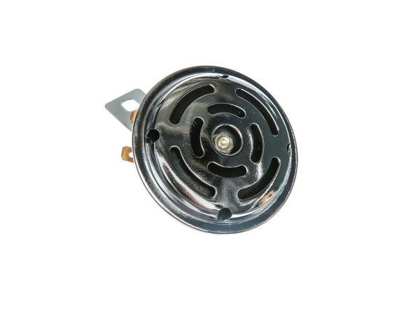 Hupe 12V mit Halter in Chrom - für Simson S50, S51, S70, S53, S83