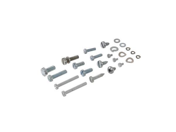 10016599 Set: Zylinderschrauben, Schlitz Elektrik-Kleinteile 2 Schwalbe KR51, Spatz SR4-1, Star, SR4-2, Sperber SR4-3, Habicht SR4-4 - Bild 1
