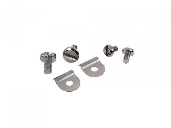 Set: Keder clamps decorative screws for knee plate lamp mask - Simson Schwalbe KR51