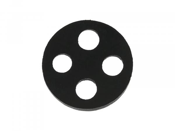 4-Loch-Dichtung für Benzinhahn, 17,7mm - Simson KR51 Schwalbe, SR50, SR80 - MZ ETZ, TS