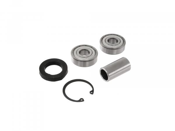 Ball bearing set + accessories (rear hub - drum brake type) - for MZ TS125, TS150
