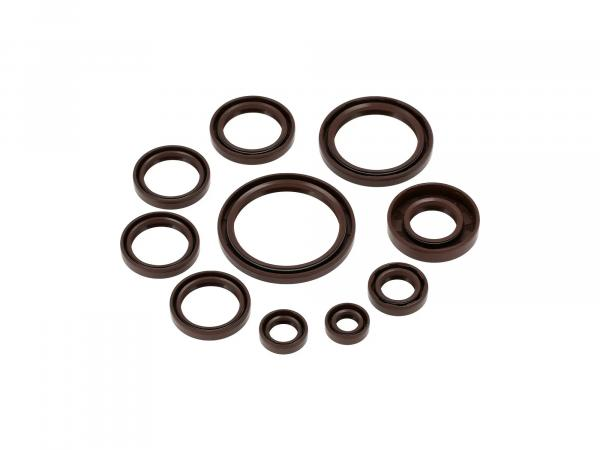 Set: Oil seals, 10 pieces, brown, dust lip - AWO 425 Sport