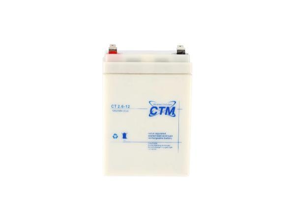 GP10068563 Batterie 12V 2,6Ah CTM (Vlies - wartungsfrei) - für Simson S51, KR51 Schwalbe, S70, SR50, SR80 - Bild 1