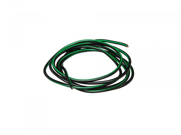Cable - black/green 0,50mm² Automotive cable - 1m