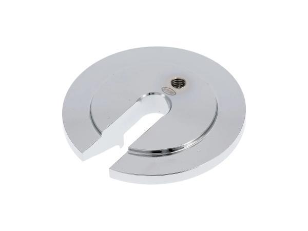 Blind disk aluminium - colour chrome - for Enduro strut Simson S51 Enduro